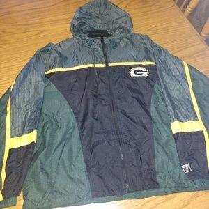 Green Bay Packers windbreaker/rain coat size L